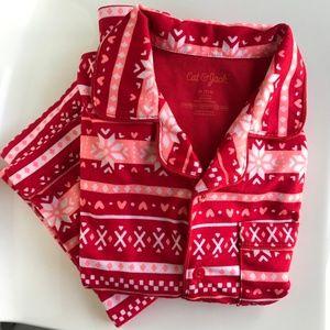 Cat & Jack red winter soft pajama set (NWOT)